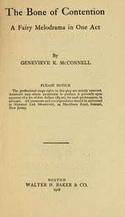 Cover of: The bone of contention