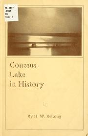 Cover of: Conesus Lake in history | H. W. DeLong