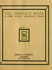 Cover of: emerald book | Shreve & Company (San Francisco, Calif.)
