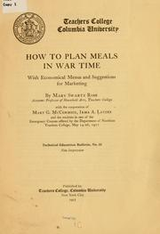 Cover of: How to plan meals in war time