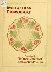 Cover of: Wallachian embroidery. | Priscilla publishing company, Boston