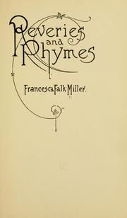 Cover of: Reveries and rhymes