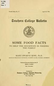 Cover of: Some food facts to help the housewife in feeding the family