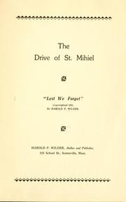 Cover of: The drive of St. Mihiel