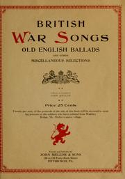 Cover of: British war songs