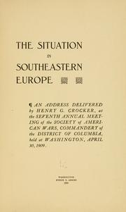 Cover of: The situation in southeastern Europe