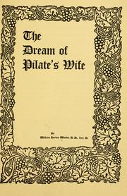 Cover of: The dream of Pilate's wife