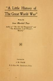 Cover of: A little history of the great world war, | Isaac Marshall Page