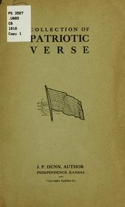 Cover of: Collection of patriotic verse