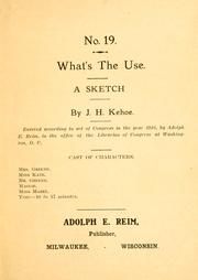 Cover of: What's the use ..