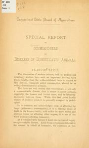 Cover of: Special report of commissioners on diseases of domesticated animals. | Connecticut. Commissioners and diseases of domesticated animals