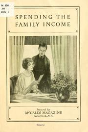 Cover of: Spending the family income. |