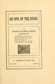 Cover of: An idyl of the Rhine