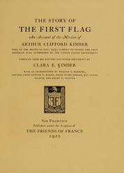Cover of: The story of the first flag