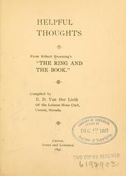 Cover of: Helpful thoughts | Robert Browning