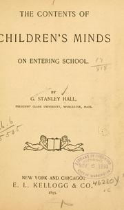 Cover of: contents of children