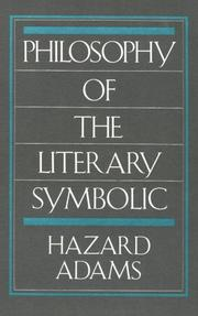 Cover of: Philosophy of the literary symbolic