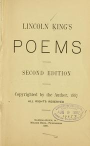 Cover of: Lincoln King's poems