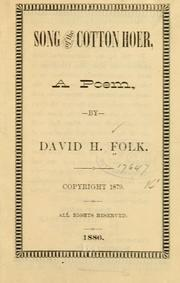 Cover of: Song of the cotton hoer