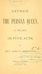 Cover of: Esther, the Persian queen