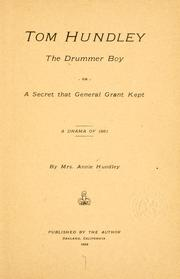 Cover of: Tom Hundley, the drummer boy