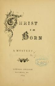 Cover of: Christ is born