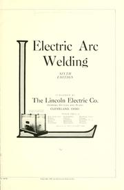Cover of: Electric arc welding