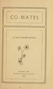 Cover of: Co-mates | Hallie Alexander Reynolds