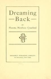 Cover of: Dreaming back | Floretta Newbury Crawford