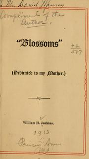 "Cover of: ""Blossoms,"""