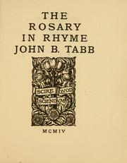Cover of: The rosary in rhyme