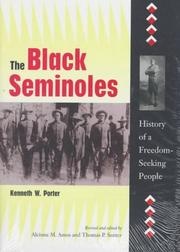 Cover of: The Black Seminoles | Porter, Kenneth Wiggins