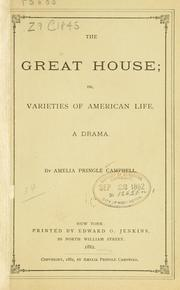 Cover of: The great house ..