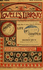 Cover of: Life of Cowper: annotations, appendix, etc. by Frederick Henry Sykes.