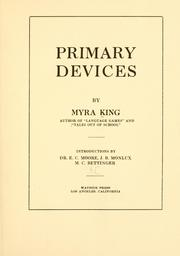 Cover of: Primary devices | Myra King