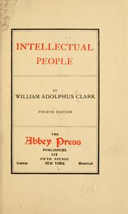 Cover of: Intellectual people