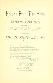 Cover of: Ekkoes from the hart