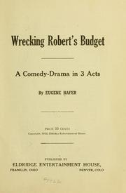 Cover of: Wrecking Robert's budget