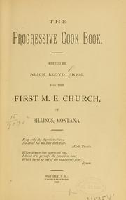 Cover of: The progressive cook book