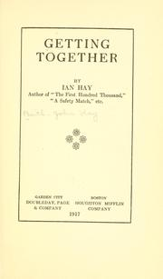 Cover of: Getting together