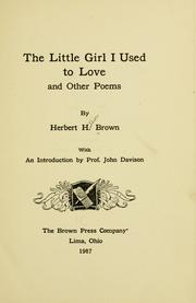 Cover of: The little girl I used to love, and other poems