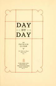 Cover of: Day by day | Patrice Oliver