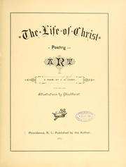 Cover of: The life of Christ in poetry and art