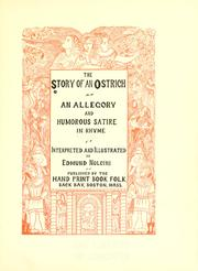 Cover of: The story of an ostrich ..