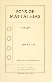 Cover of: Sons of Mattathias