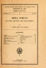 Cover of: Sitka spruce | N. Leroy Cary
