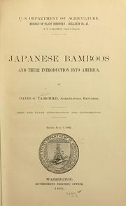 Cover of: Japanese bamboos and their introduction into America