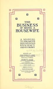 Cover of: The business of being a housewife