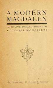 Cover of: A modern Magdalen