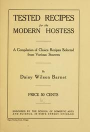 Cover of: Tested recipes for the modern hostess